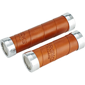 Brooks Slender Leather Handlebar Grips honey